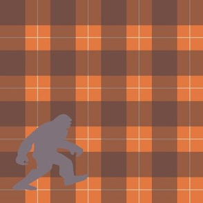 bigfoot plaid-orange