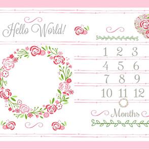 Hello World 54 rose bliss growth chart  -petal