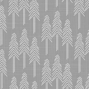 Forest - Pine Trees Light Gray