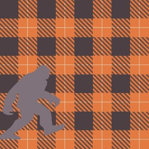 Big foot buffalo check plaid- orange