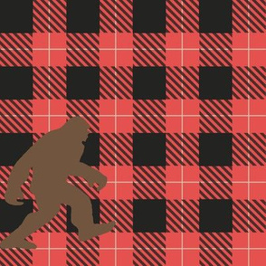 Big Foot red buffalo plaid