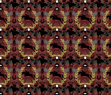 Horse Race fabric by sunflowerfields on Spoonflower - custom fabric