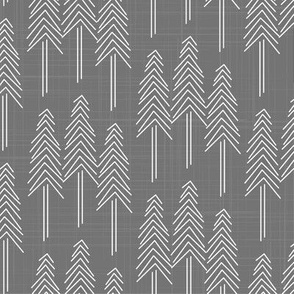 Forest - Pine Trees Gray