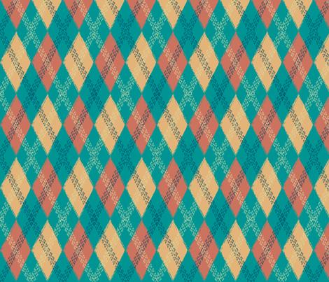 Rusty Bike Tire track Argyle fabric by krystalsavage on Spoonflower - custom fabric