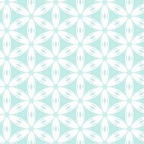 Daisy Chain Pattern in Blue & White