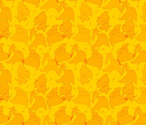 Orange Beta Fish  fabric by jayhutch on Spoonflower - custom fabric