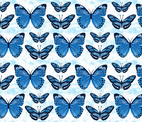 Blue Butterflies fabric by andrea_thomas on Spoonflower - custom fabric