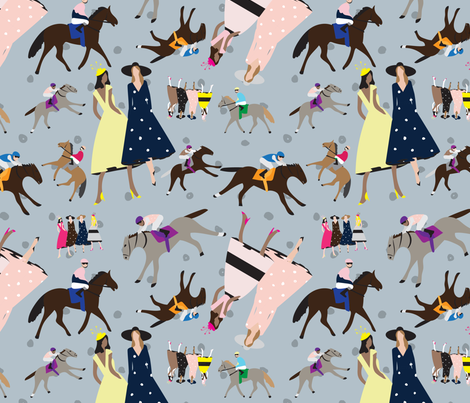 And they're off and racing! fabric by twyfie on Spoonflower - custom fabric