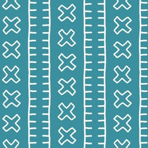 African Mud Cloth // Teal // Small