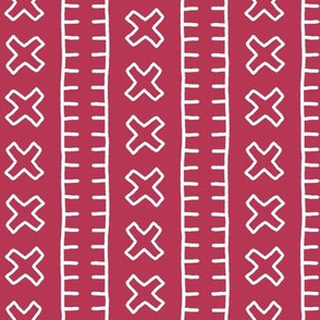 African Mud Cloth // Magenta // Small