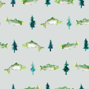 Salmon and Pine Tree Rows