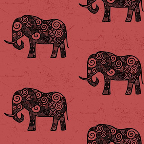 Elephant with Pink Background