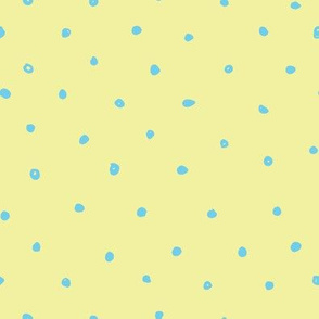 Quirky Blue Polka Dot Yellow