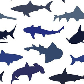 Sharks - Blue Shades // Large