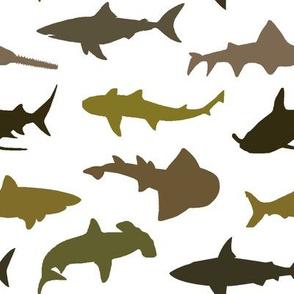 Earth-tone Sharks // Large