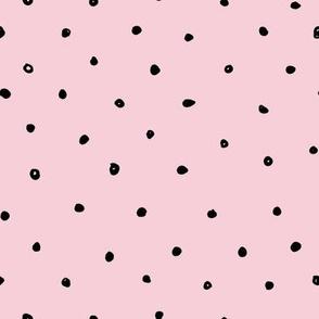 Quirky Black Polka Dot Pink