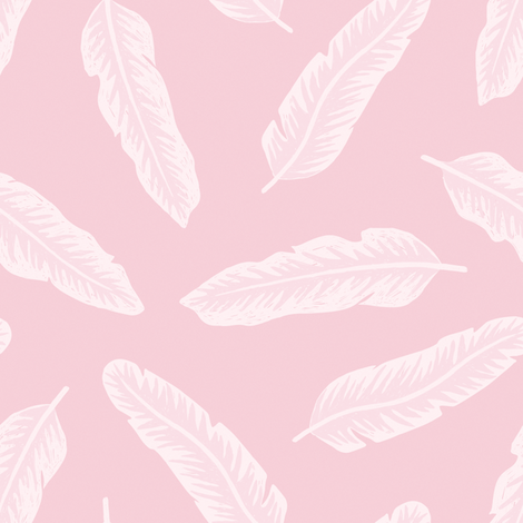 Pink tropical leaves  fabric by kondratya on Spoonflower - custom fabric