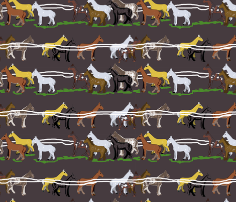 Off to the horse races fabric by claireybean on Spoonflower - custom fabric