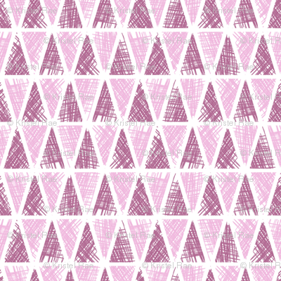 Dream Flower Scribbled Triangles—Pink