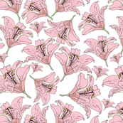 Pink painted flower pattern1.p