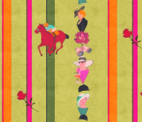 derby stripes fabric by dessineo on Spoonflower - custom fabric