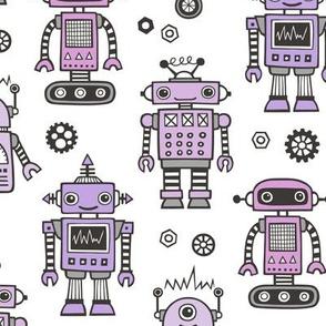 Retro Robots Purple