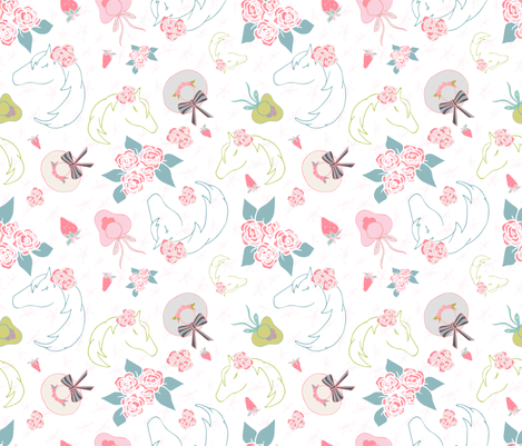 Pretty Horses and Hats fabric by samantha_faye_designs on Spoonflower - custom fabric