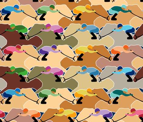 Horse racing fabric by y_me_it's_me on Spoonflower - custom fabric