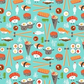 Happy Sushi - Kawaii Ditsy Scale