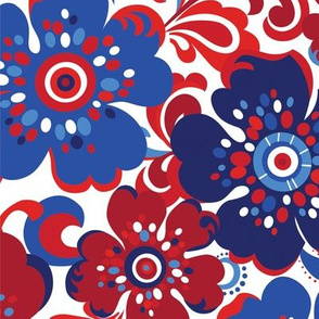 Floral Whimsy Patriotic