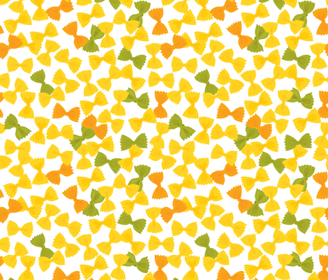 pasta salad fabric by annaboo on Spoonflower - custom fabric