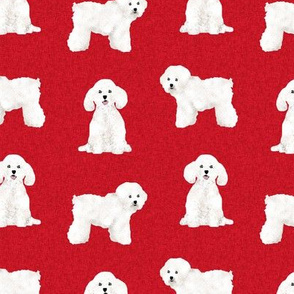 bichon frise pet quilt a dog breed quilt fabric coordinate