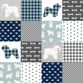 bichon frise pet quilt b dog breed quilt fabric wholecloth cheater quilt