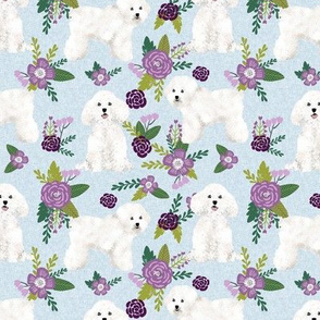 bichon frise pet quilt c dog breed quilt fabric coordinate floral