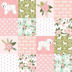 bichon frise pet quilt d dog breed quilt fabric wholecloth cheater quilt
