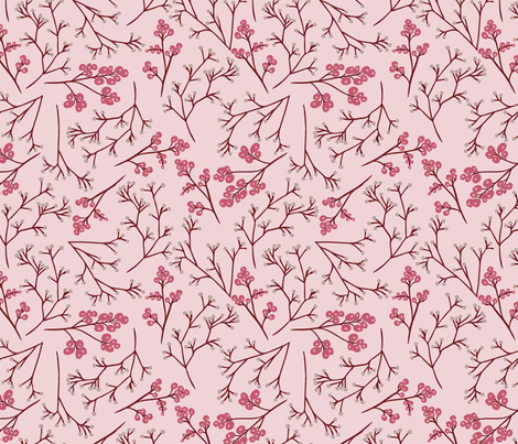 Spring Pink Tossed Flowers fabric by apennina_design_and_illustration on Spoonflower - custom fabric
