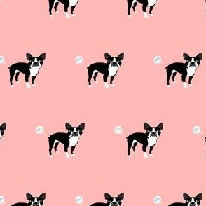 boston terrier dog breed fabric funny fart terriers pink