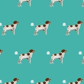 brittany spaniel dog breed funny fart teal