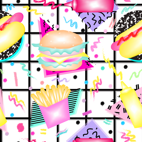 80's Cookout fabric by elliottdesignfactory on Spoonflower - custom fabric
