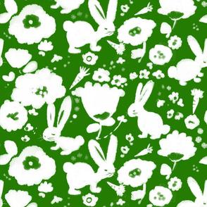 spring bunnies -green