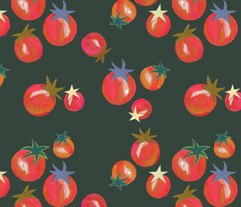 Cherry Tomato  fabric by mollyccostello on Spoonflower - custom fabric