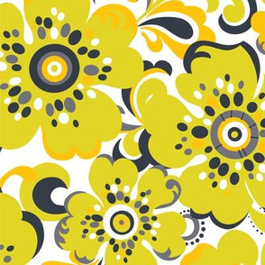 Floral Whimsy Citron Dream