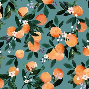 Dear Clementine oranges - teal