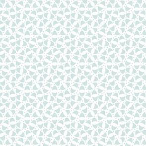 Cut Ovals in Light Blue, Tiny Prints, Curvy Shapes in Sea Foam