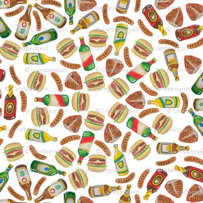 BBQ Meat Mandalas