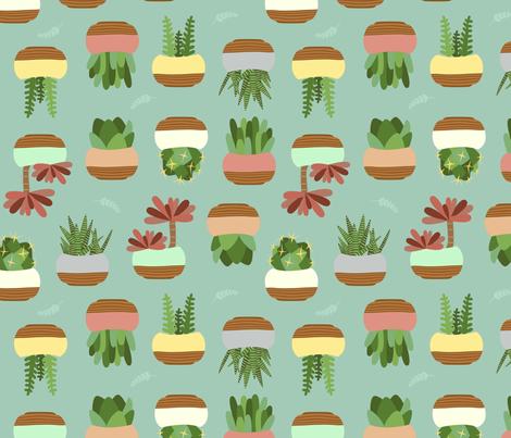 Succulent - Green fabric by rsawyer_designs on Spoonflower - custom fabric