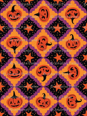 Purple Bat Frame Jack-o'-lanterns