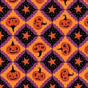Purple Bat Frame Jack-o'-lanterns