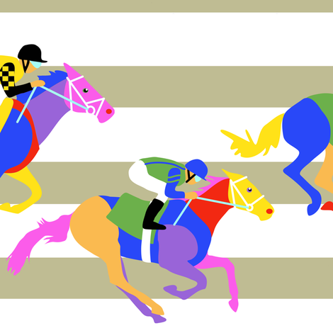 Horse Racing Chevron Style fabric by eclectic_house on Spoonflower - custom fabric