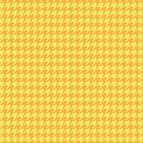 Pear and Orange Houndstooth Small